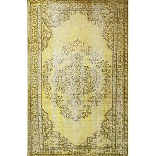 Nuloom 2'8 x 8' Vintage Inspired Overdyed Rug in Funky Yello