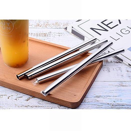 Anglayif Pajitas de Metal de Acero Inoxidable con Cepillo de ...