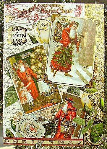Punch Studio #95601 Victorian Christmas Greeting Cards, Santa's Adventures, Box of 15