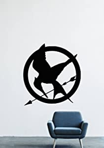 The Hunger Games Mockingjay Badge Animal Arrow Badge Wall Decals Decor Vinyl Stickers GMO1464