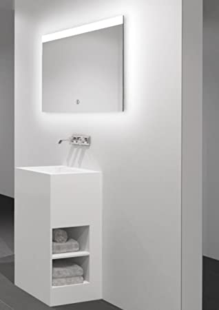 LED-Lichtspiegel Silver Flame - Warmweiß beleuchteter Spiegel für ...