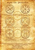 Sigils for Protection Scroll Geniuses Kabbalah Poster Wicca Pagan Print Art Witch Magick Runes