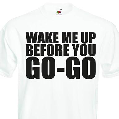 3df1b9f9b Wake Me Up Before You Go-Go Retro 80s wham T-Shirt, Fancy Dress (2XL  47-49): Amazon.co.uk: Clothing