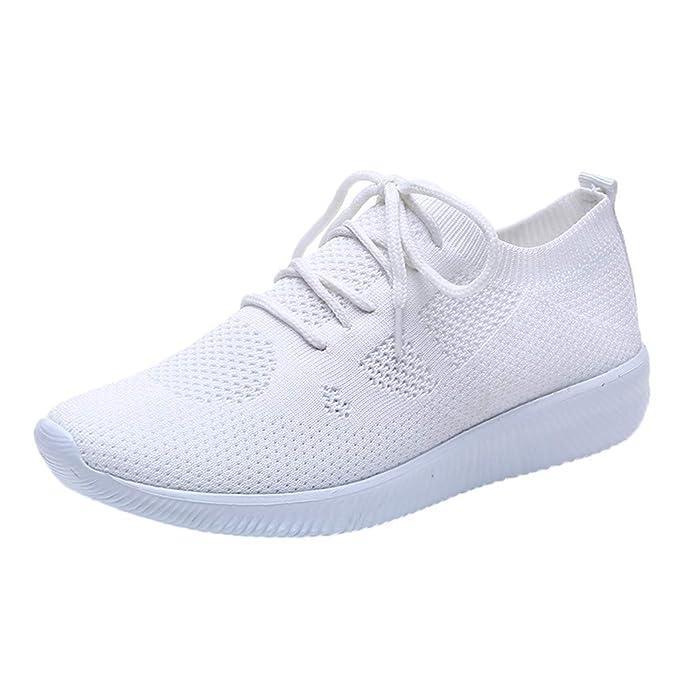 ABsolute Zapatos Calzado Deportivo Mujer Deportivos de Malla con Cordones para Mujer Zapatillas Transpirables para Mujer Zapatillas de Deporte de Ocio para ...
