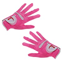 Sharplace 1 Pair Pink Women's Golf Gloves Cool and Comfortable - Improve Grip - 4 Sizes for Choice