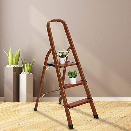 LUISLADDERS Step Ladder Lightweight Woodgrain Aluminum Ladders Folding Step Stool for Home and Kitchen Ladder 330lb 2 Step