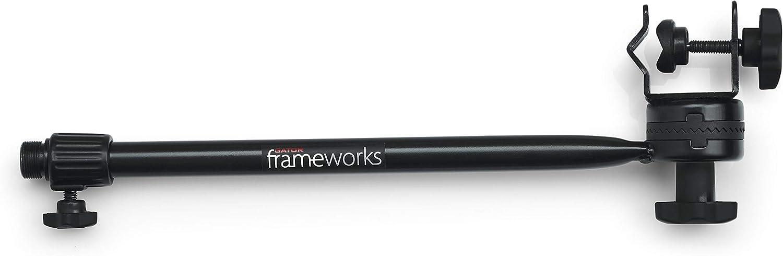 Gator Frameworks Adjustable Clamp-On Angled Mini Interlocking Design 16 Inch Boom Arm GFW-MIC-CLMPBM16