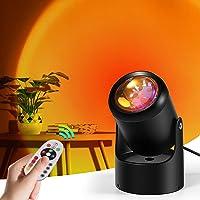 KAYIMAN Sunset Light, met dimbare afstandsbediening, 180 graden draaibaar regenboogprojectorlicht, USB-licht, led…