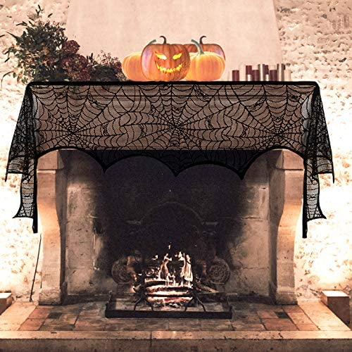 61mrugBjwBL. AC  - Black Halloween Garland Mantle Decorations Indoor