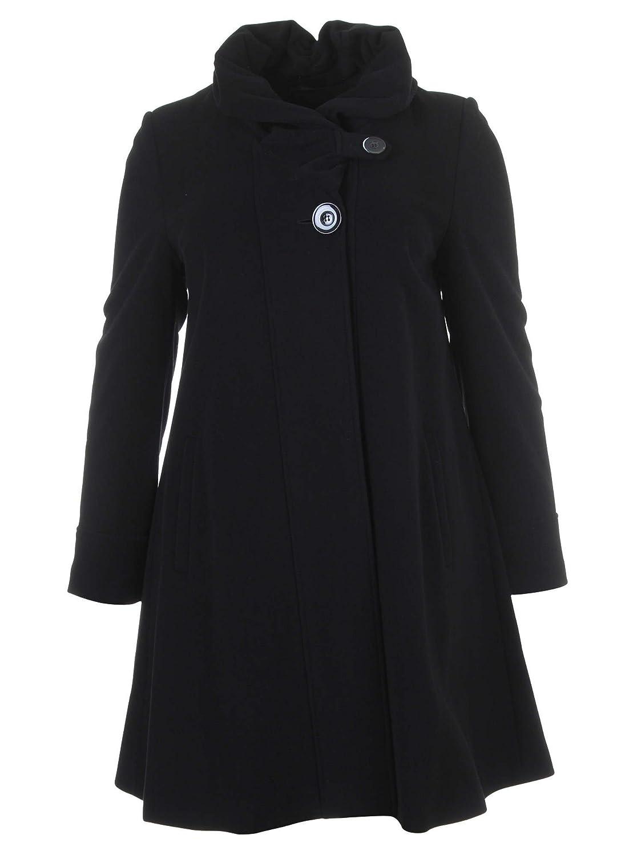 Mantel in A-Form in schwarz in Übergrößen (44, 46, 48, 50, 52) von Erich Fend