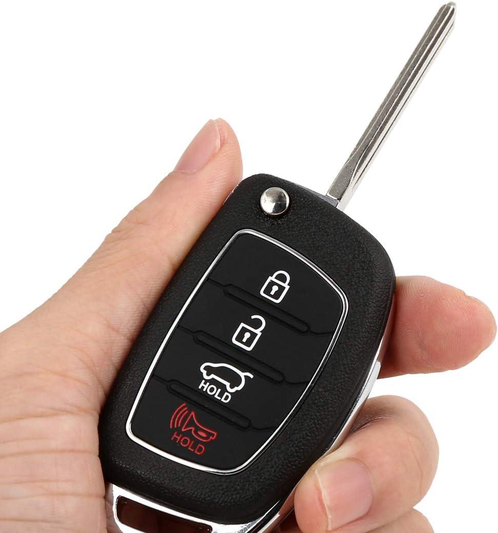 X AUTOHAUX Replacement Keyless Entry Remote Car Key Fob 434Mhz TQ8-RKE-4F16 for 2015-2017 Hyundai Sonata