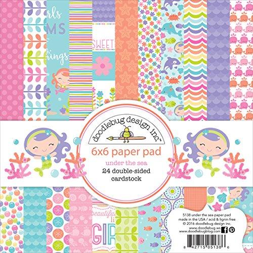DOODLEBUG Sea Paper Pad, 6x6