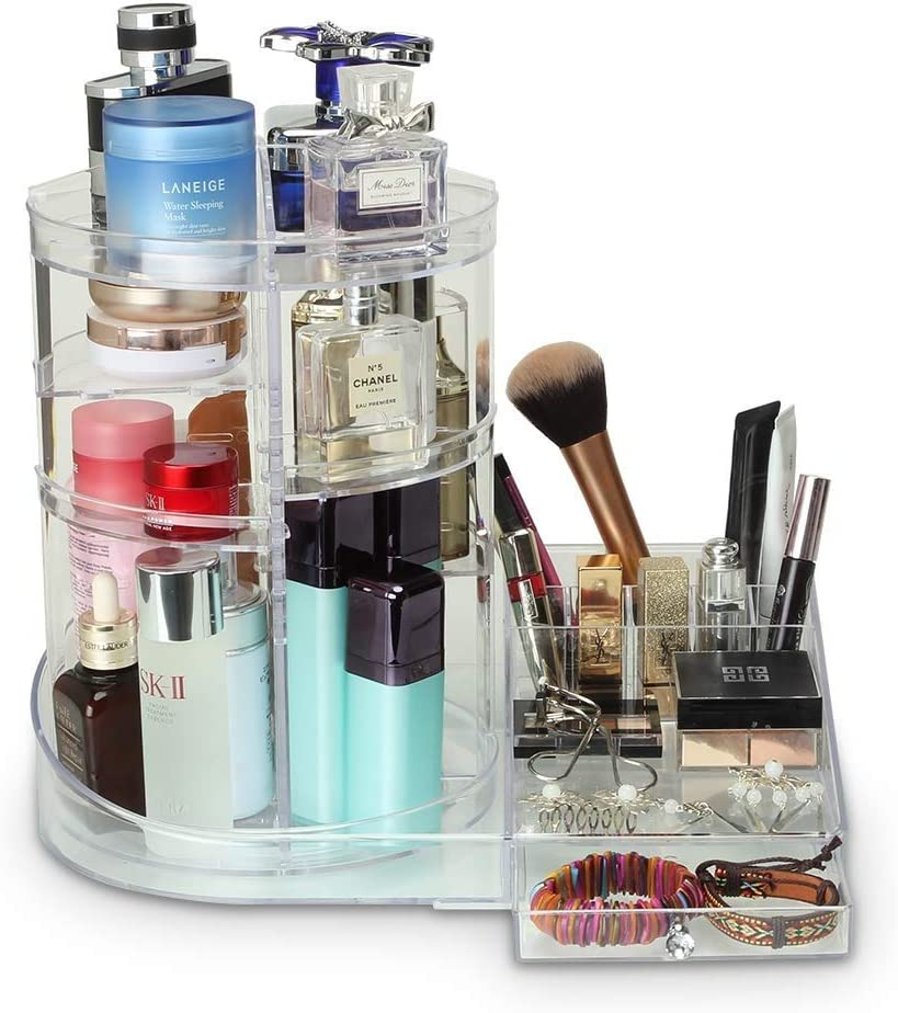 LHZHG Organizador Maquillaje de 360 Grados, Almacenaje Cosmetica Almacenamiento Cosmético Estuche de Organizador Cajón de la Caja (Color : Claro): Amazon.es: Hogar