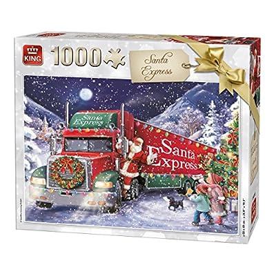 King 5618 Santa Express Christmas Puzzle Da Pezzi 68 X 49 Cm