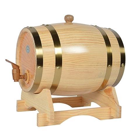 Z@SS Barril De Vino Dispensador, Vintage Pine Timber Barrel para Almacenamiento O Envejecimiento
