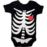 Body Bebe Estampado Esqueleto Unissex Body Fantasia Halloween PiftPaft