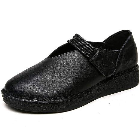 6695824f0 YAN Zapatos para Mujer Nuevos 2019 Mocasines y Slip-Ons Suave Oxford de Cuero  Zapatos