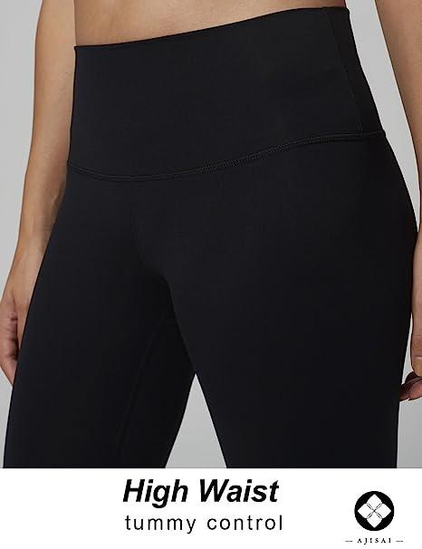 01da5cac177f2 Amazon.com: AJISAI Yoga Pants for Women Running Workout Leggings High Waist  Tummy Control: Clothing