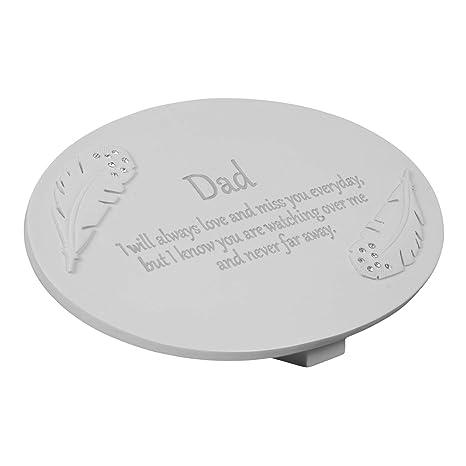 Juliana In Loving Memory - Placa Conmemorativa con Texto en inglés Dad y diseño de Plumas