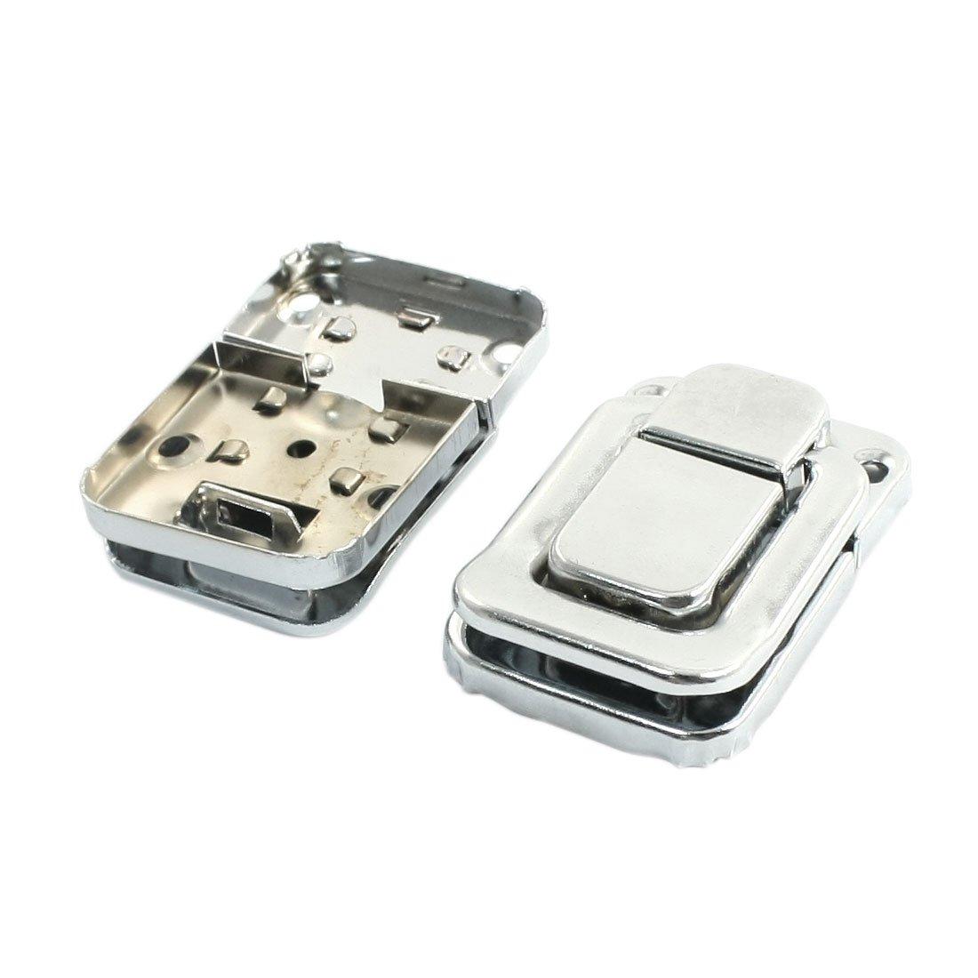 Sourcingmap a14041000ux1368 Partie 3 mm Trou de fixation de bagages avec fermoir à bascule en métal Argenté 2 pièces