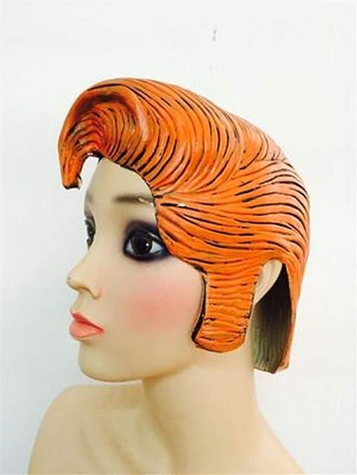 ZHANG Caps Nueva Peluca de Elvis clásico Amantes de la Danza Personalizada de látex Masculino de los pelos Puntales Bar Spoof 17 (Color : Orange): Amazon.es: Hogar