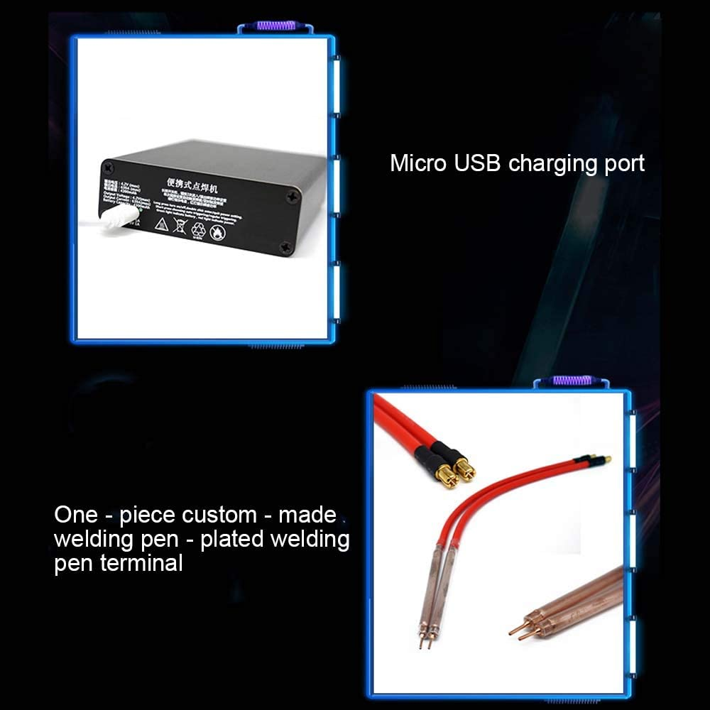 KKmoon Portable DIY Mini Spot Welding Machine with Quick-release Pens and 2 Battery,with Outshell
