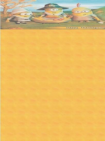 Amazoncom Minions Happy Thanksgiving Stationery Printer Paper 26