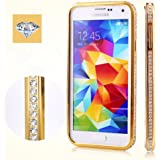 Crystal Rhinestone Bling Bumper Phone Case, Gold
