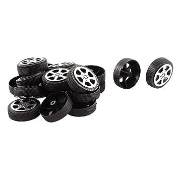 Ruedas de juguete - SODIAL(R)Rollo de plastico 2 mm diametro eje Ruedas de juguete de modelo de camion coche 30mmx9mm 20pzs: Amazon.es: Juguetes y juegos