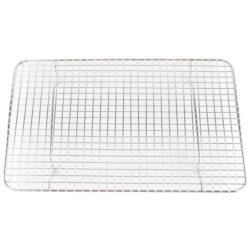 Momugs Stainless Steel Wire Cooling Rack Heavy Duty Cooling and Roasting Rack Fits Jelly Roll Pan Oven-Safe for Roasting,Baking,Cooking, Grilling, Drying - Commercial Grade Chef Quality 10'' x 15''