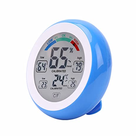 Digital Indoor Room Hygrometer Thermometer,Cute House Room Acurite  Temperature And Humidity Thermometer Monitor With