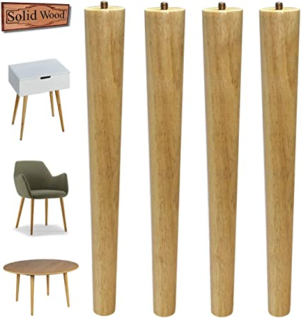 Sopicoz Table Legs 16 Inch Wood Furniture Legs For Coffee Table