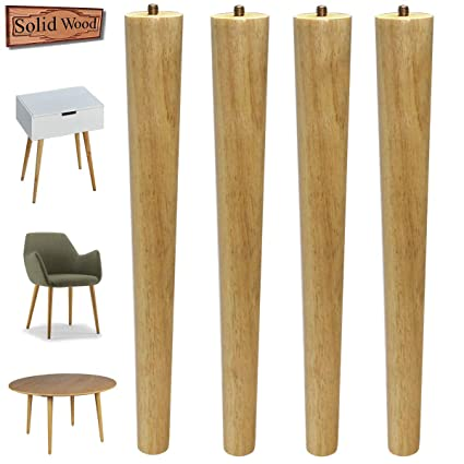 Peachy Table Legs 16 Inch Wood Furniture Legs For Coffee Table End Table Mid Century Modern Diy Furniture Tapered Natural Threaded 5 16 Hanger Bolts Pack Ncnpc Chair Design For Home Ncnpcorg
