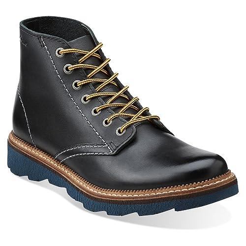 9c584e547eff Clarks Frelan Rise Mens Black Leather Boot 12-MEDIUM  Amazon.co.uk  Shoes    Bags