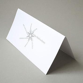 Bedruckte Weihnachtskarten.10 Schlichte Silber Bedruckte Weihnachtskarten Grit May Wolff