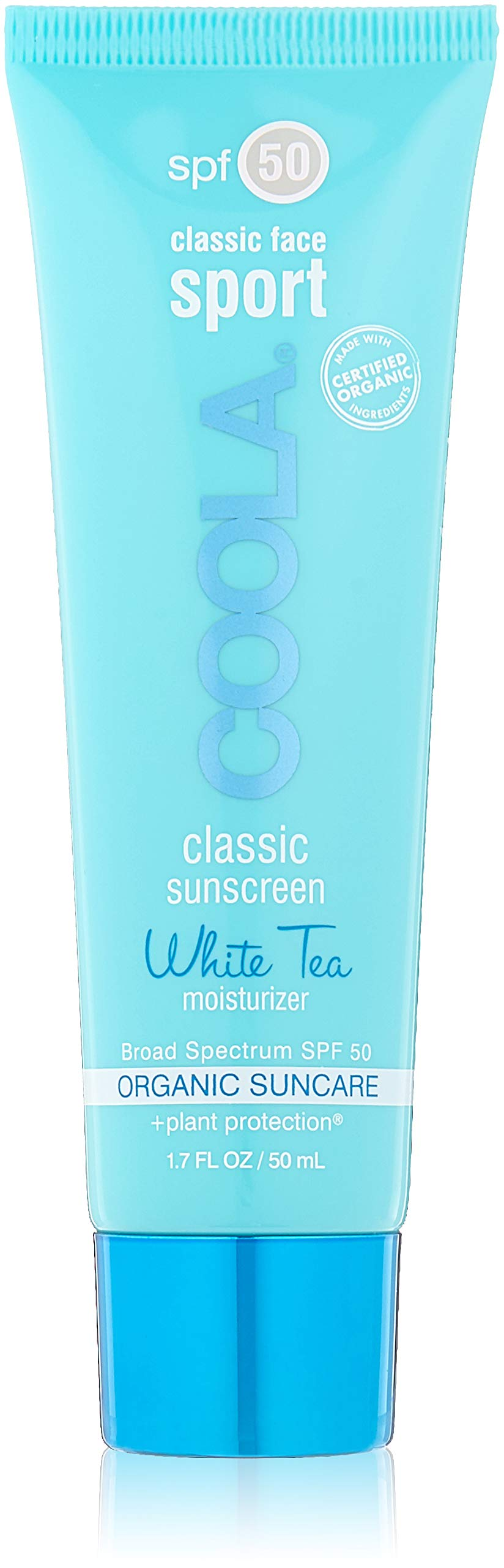 COOLA Suncare Classic Sport Face SPF 50 Sunscreen, White Tea, 1.7 fl. oz. by Coola Suncare