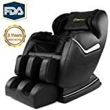 Real Relax Massage Chair Recliner, Zero Gravity Full Body Best Budget Shiatsu Electric Massage Chair with Heat and Foot Rollers(Black)
