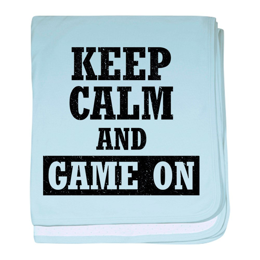 CafePress Keep Calm And Game On - Baby Blanket, Super Soft Newborn Swaddle