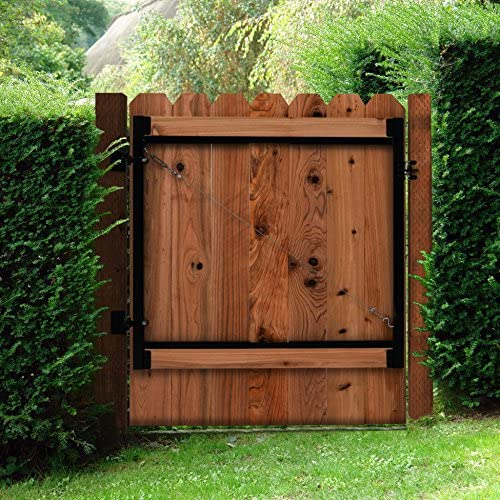 Strong tall garden side gate  6ft tall 3ft wide opening galvanized R//H