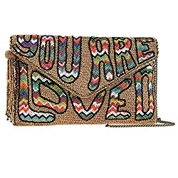 Boho Beaded Hippie Clutch Bag