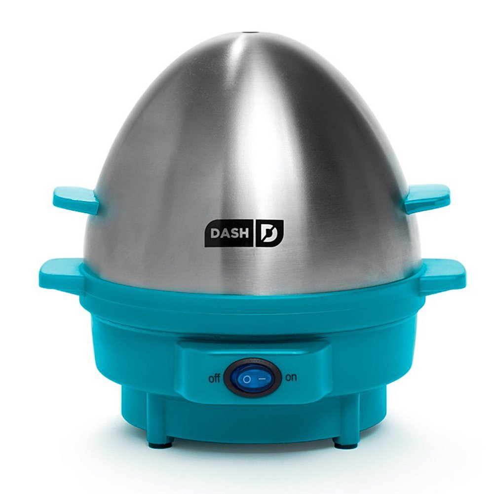 Amazon Com Dash Kitchen 7 Egg Rapid Egg Cooker Blue Electric Egg Cookers Kitchen Dining