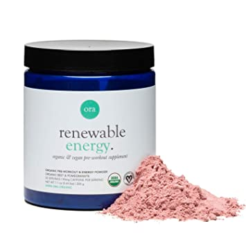 Ora Organic Natural Pre Workout Powder - Vegan, Clean Energy with a Jitter  Free Boost, No Artificial