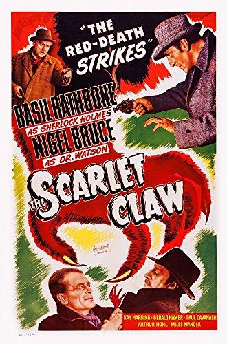 The Scarlet Scrape Us Re-Release Poster Art Top From Left: Nigel Bruce Basil Rathbone; Bottom From Left: Gerald Hamer Basil Rathbone 1944 Moving picture Poster Masterprint (11 x 17)