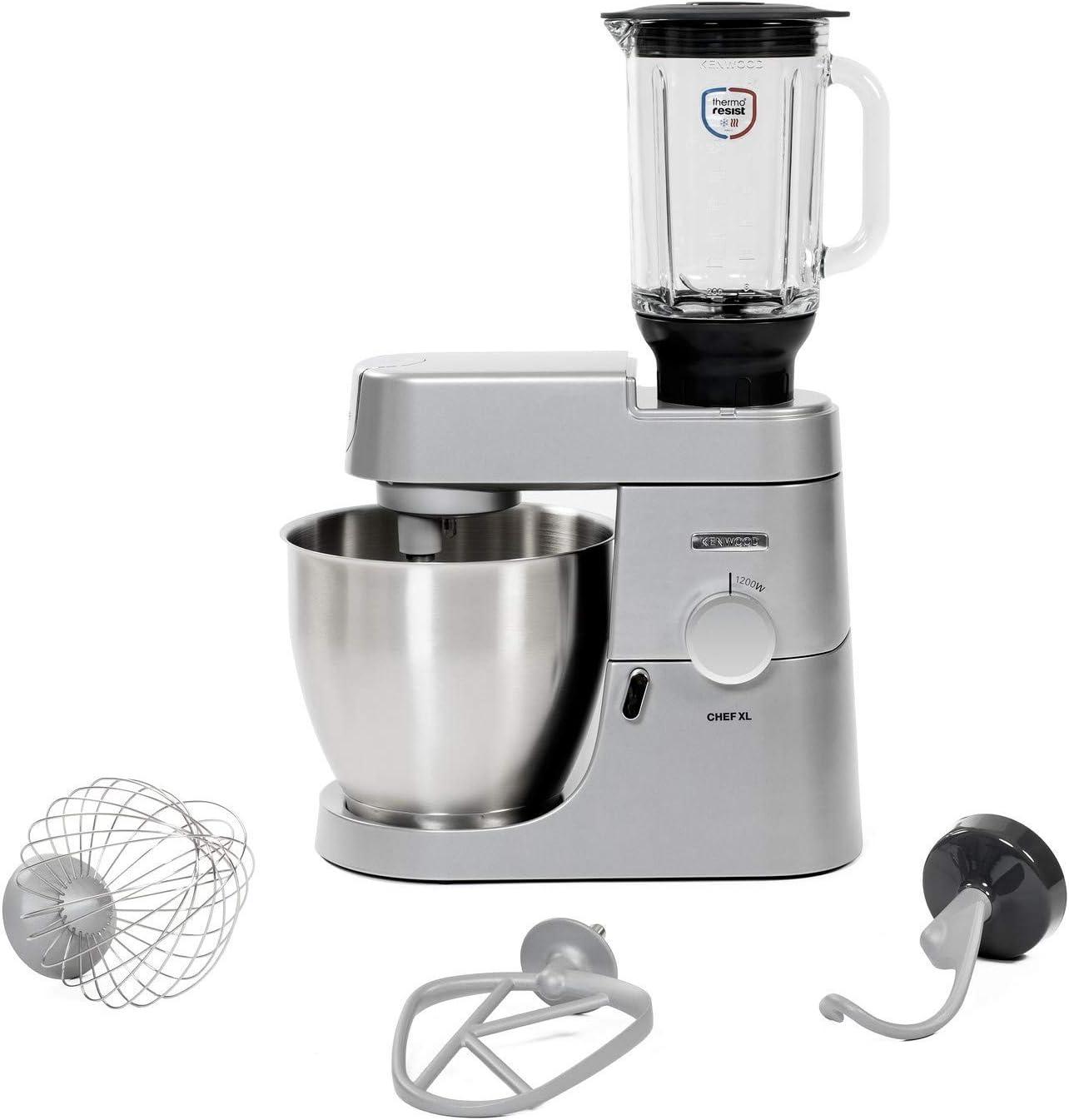 Kenwood Electronics Chef XL KVL4125S - Robot de cocina (6,7 L, Plata, Giratorio, Batir, Mezcla, Amasar, Mezcla, Acero inoxidable, Metal): Amazon.es: Hogar