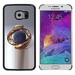 "For Samsung Galaxy S6 EDGE / SM-G925(NOT FOR S6) , S-type El extracto del oro"" - Arte & diseño plástico duro Fundas Cover Cubre Hard Case Cover"