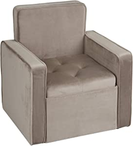 INSPIRE ME HOME DECOR Jolie Storage Chair, Ash Grey
