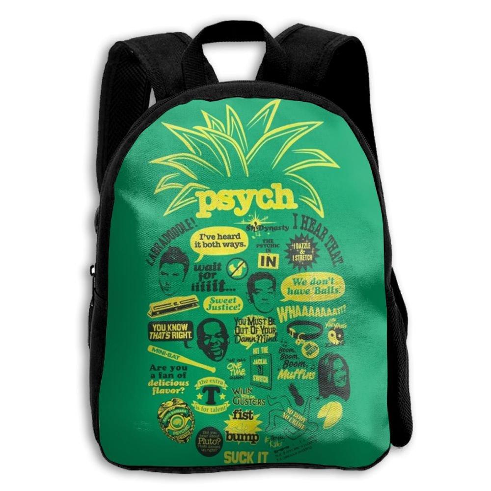 DGYEG44 Psych Pineapple Quote Backpack School Bag Bookbag For Kids Boys Girls Womens 50%OFF