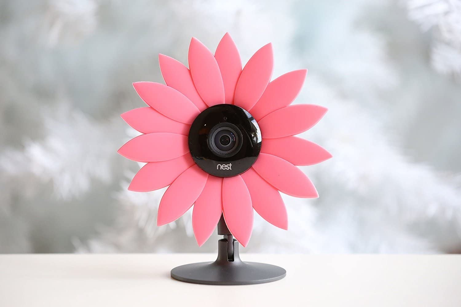 Hide-Your-Cam Nest Cam Security Camera Camouflage Pink Sun Flower Cover Skin Case Disguise Protection Decoration Also Fits on Yi Home Cam
