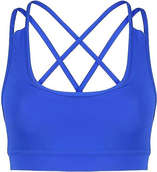 TALLA L. Mujer Diseño Sports Sujetador Gimnasio Fitness Entrenamiento Ejercicios Top Corto Chaleco Elástico