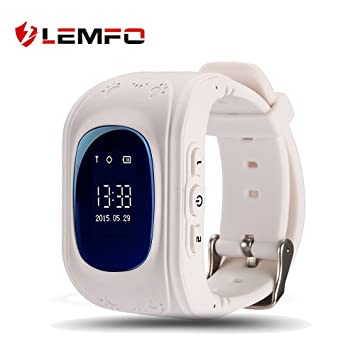 Lemfo Q50 inteligente reloj GPS reloj inteligente teléfono anti perdido SOS Llamada buscador de los niños